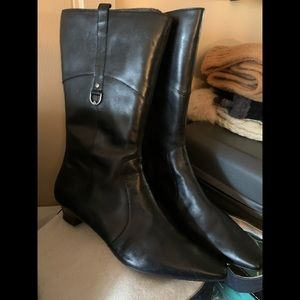 Etienne Aigner leather E-Davin ankle boot